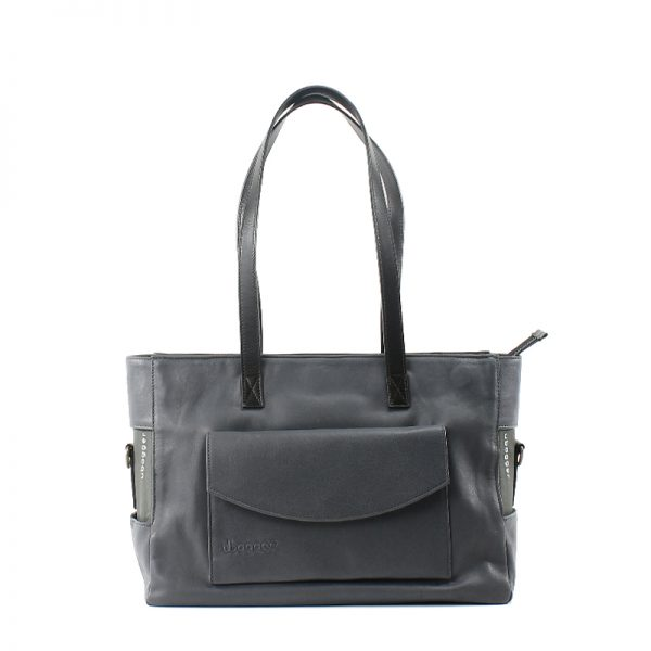 Bolso Shopper Small Piel Gris