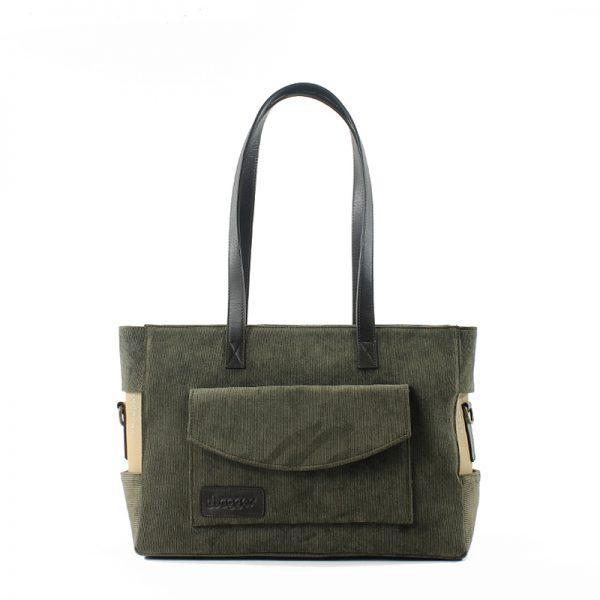 Bolso Shopper Small Panna Militare